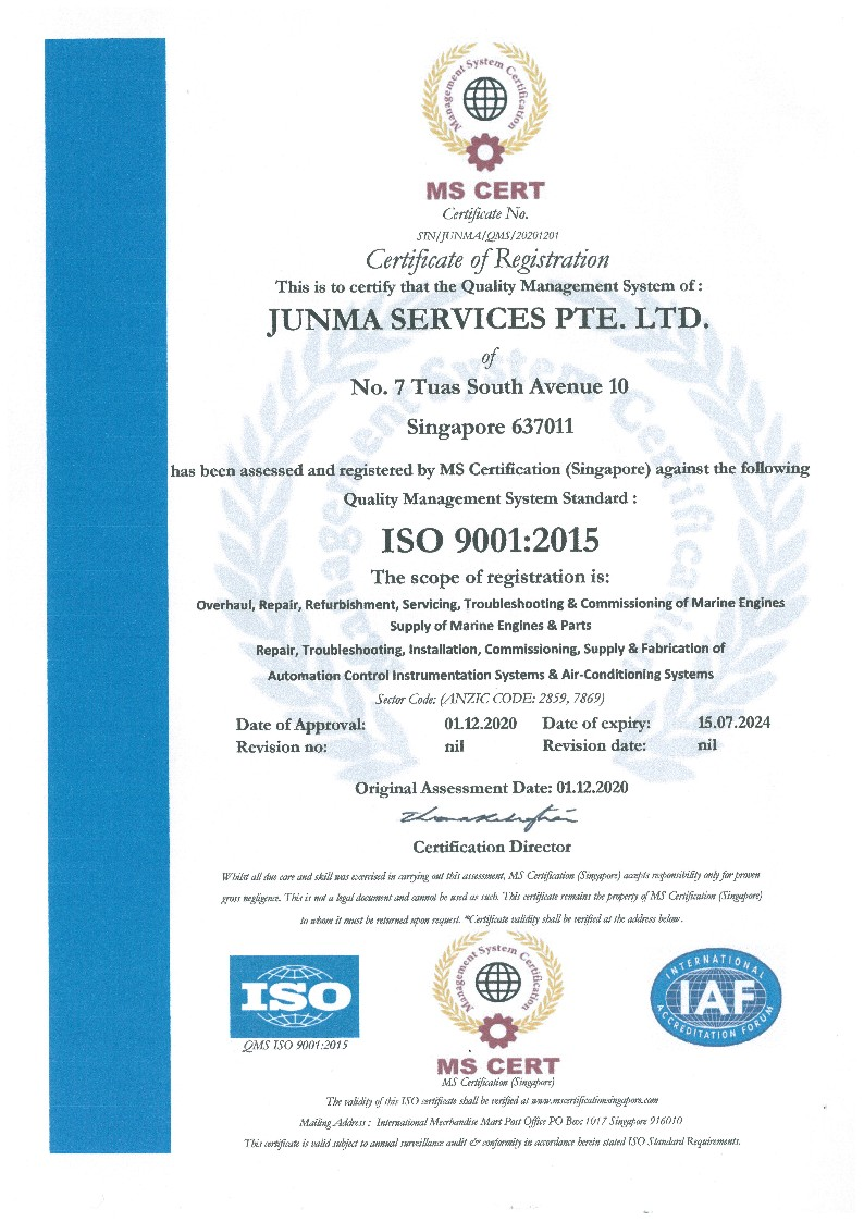 ISO 9001:2015 (Quality Management System)