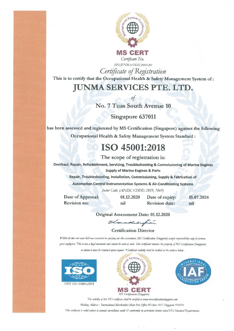 ISO 45001:2018 (Health & Safety Management System)